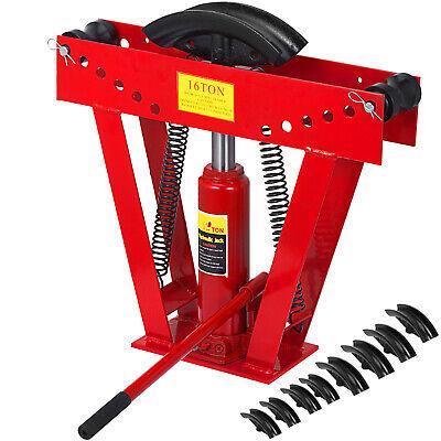 Pipe Bender 16 Ton Manual Hydraulic Tube Bending 8 Dies Tubing Exhaust Tools