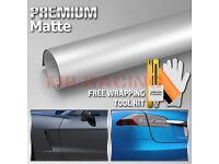 *2/'x5/' Feet Matte Satin Chrome Yellow Sticker Decal Car Vinyl Wrap Air Release