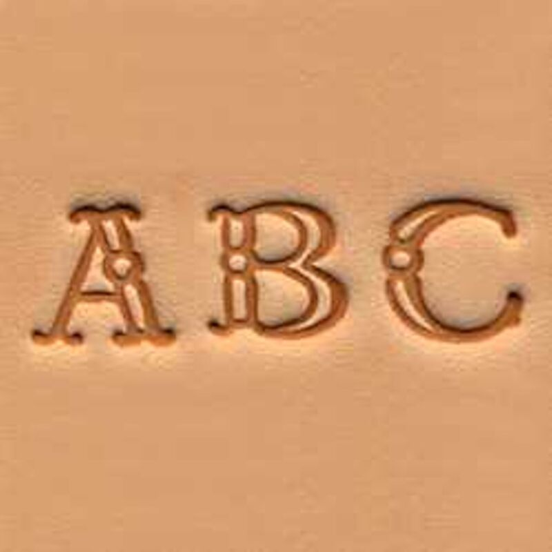 """Craftool Fancy Alphabet Stamp Set 3/8"""" 4907-00 by Tandy Leather"""