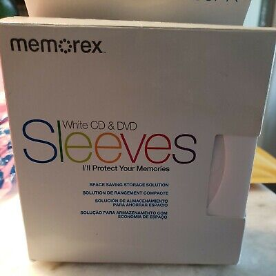 Memorex White Cd Dvd Protective Paper Sleeves 96 Pack