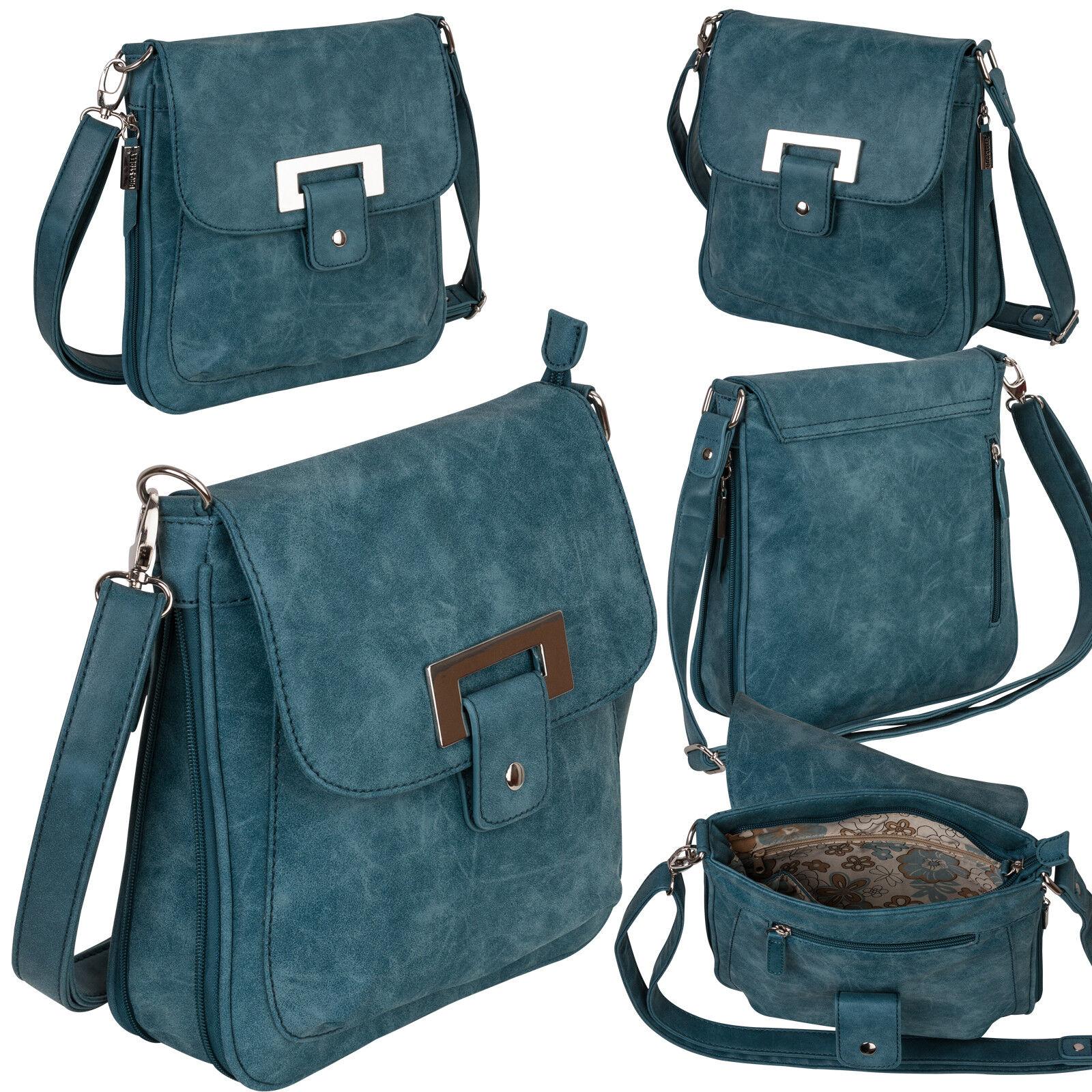 Bag Street Damentasche Umhängetasche Handtasche Schultertasche K2 T0101 Blau