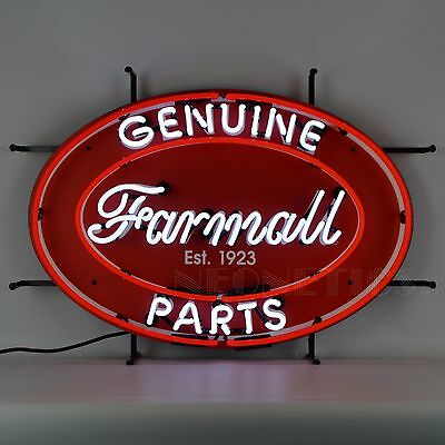 Farmall Genuine Parts Oval Neon Sign Farm All 5CASEO w/ FREE Shipping