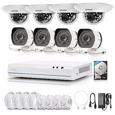 Zmodo 8CH HDMI NVR w/ 720p Network IR-cut CCTV Home Security Camera System 2TB
