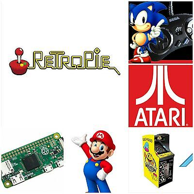 Retropie Preconfigured 16GB Micro Sd Card  Raspberry Pi Zero & Zero W