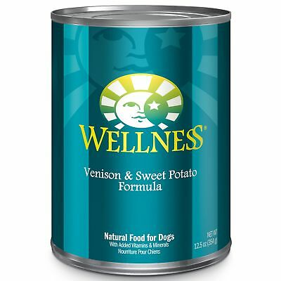 Wellness Complete Health Natural Wet Canned Dog Food, Venison  Sweet Potato,