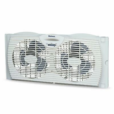 Twin Window Fan Dual Blade 2 Speed Reversible Air Flow Contr