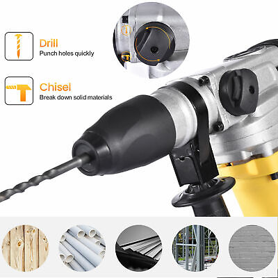 1500w 1-12 Sds-plus Electric Rotary Hammer Drill Demolition Variable Speed