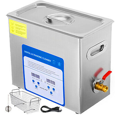 316 Stainless Steel 6l Ultrasonic Cleaner Kit Jewellery Cleaning Wball Basket