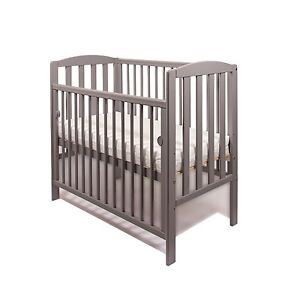 MINI DROPSIDE SPACE SAVER SMALL COT 4 BABY / GREY  + MATTRESS / Fast Delivery