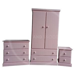 Handmade furniture girls kiddies bedroom set pink for Bedroom furniture sets assembled