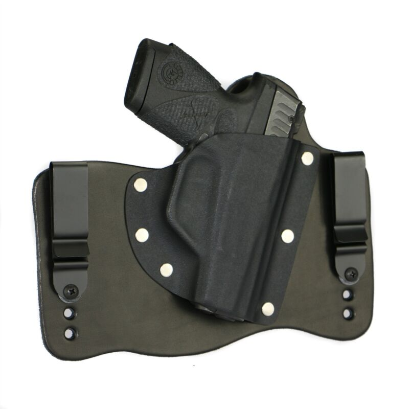 FoxX Leather & Kydex IWB Hybrid Holster Taurus PT709 Slim 9MM Black Right Concel