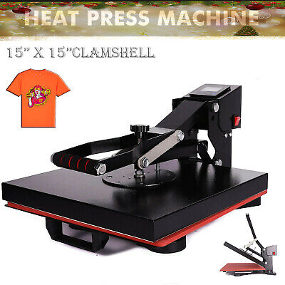 Diy Digital Clamshell T-shirt Heat Press Machine Sublimation Transfer 15x15