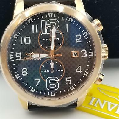 Invicta 11242 Mens Tritnite Night Glow Watch Making History Specialty Rose Gold