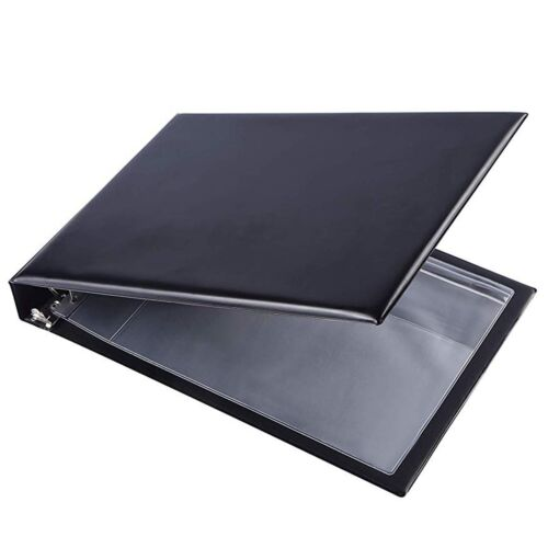 7 Ring Business Check Book Binder 3-on-a-page Zippered Leath