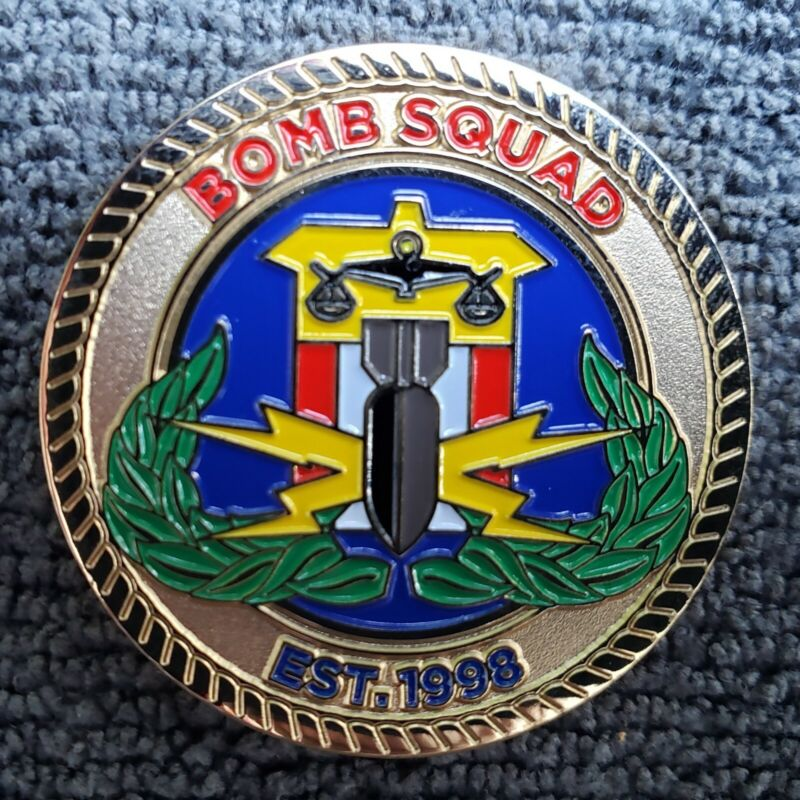 MONTGOMERY COUNTY POLICE BOMB SQUAD CHALLENGE COIN BADGE PATCH SHIELD MARYLAND