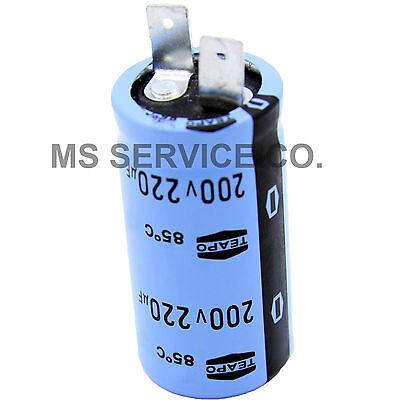0034819 01 SINGLE Teapo Coleman Generator Capacitor 220uF 200V HD85C  003481901,