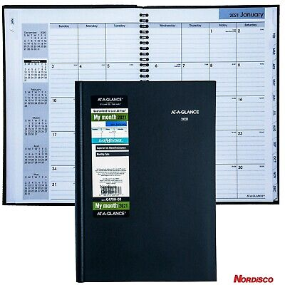 2021 At-a-glance Dayminder G470h Monthly Planner Hardcover 7-78 X 11-34