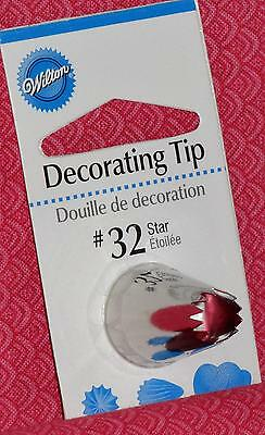 Open Star Decorating Tip,#32, Wilton,Stainless Steel,Silver,Fits Standard Bags Open Star Tip