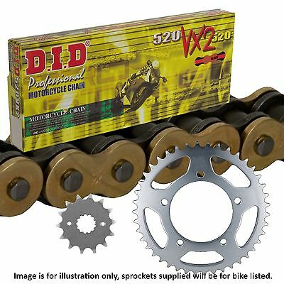 <em>YAMAHA</em> XJ6 DIVERSION ABS 2010 DID GOLD X RING CHAIN AND SPROCKET KIT