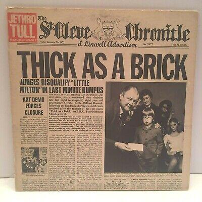 Jethro Tull Thick As A Brick LP Album 1972 Reprise Label MS 2072 + Newspaper VG+ comprar usado  Enviando para Brazil