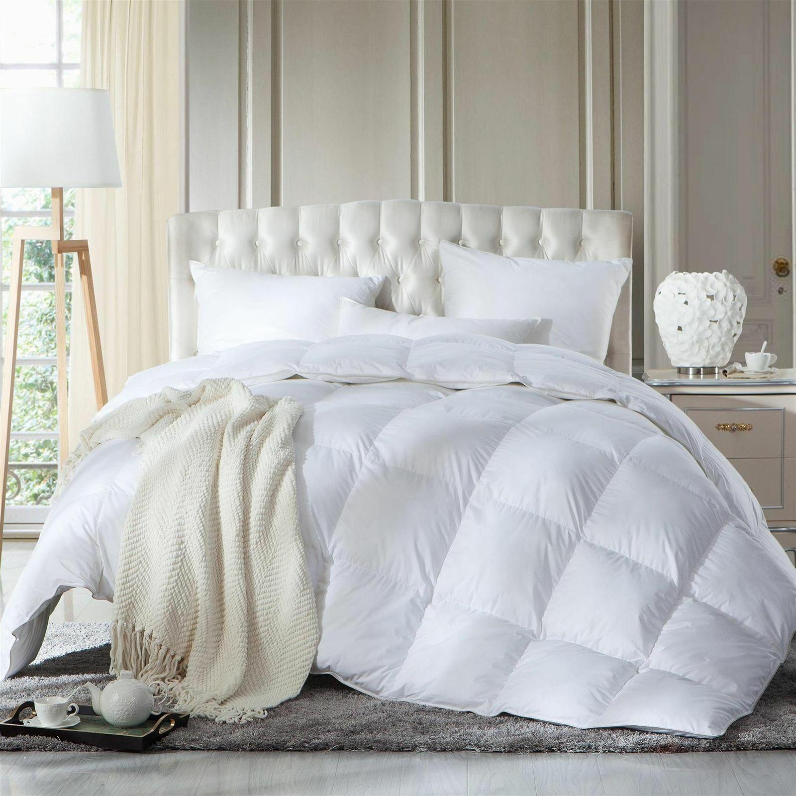 Duck Feather 13 5 Tog Duvet Quilt Pillows Hypoallergenic Super Soft King Bed Set Ebay