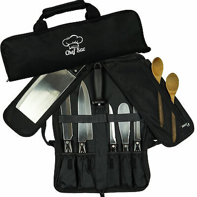 Chef Knife Bag Roll Bag Case | 8 Pockets for Knives & Kitchen Utensils