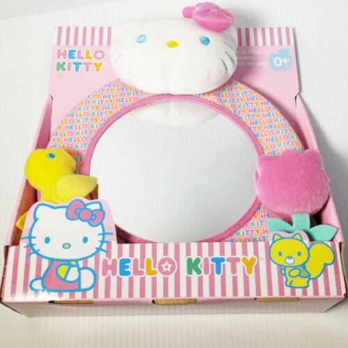 Hello Kitty Crib Toy Mirror Plush See & Play 3D Rare