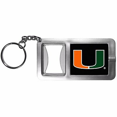 - Miami Hurricanes Flashlight Key Chain with Bottle Opener NCAA Licensed