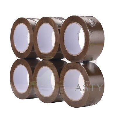 36 Rolls 2x110 Yds330brown Carton Sealing Packing Package Tape 2mil