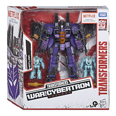 Transformers War For Cybertron Trilogy Netflix Voyager Class Hotlink 3-Pack New