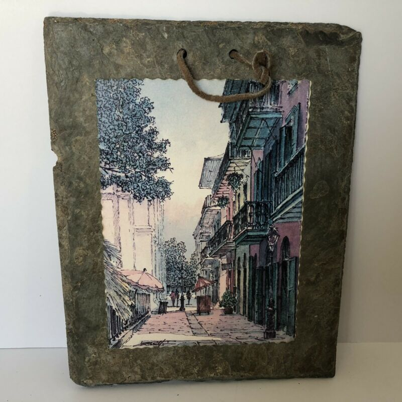 Historic New Orleans Roofing Slate/Tile Royal Street Wall Hanging Decor