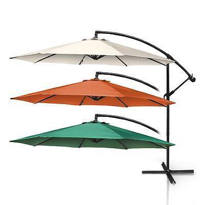 300 cm Ampelschirm Sonnenschirm Gartenschirm Kurbelschirm 3 Meter Marktschirm
