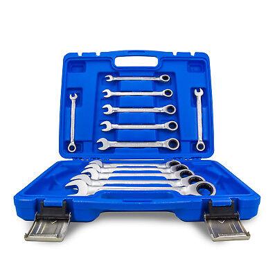 Ratschenschlüssel Ring Maul Ratsche Schlüssel Satz 8-19mm Werkzeug Set 12 tlg