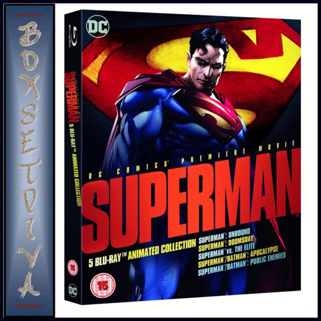 SUPERMAN - ANIMATED COLLECTION - DC COMICS PREMIERE MOVIE *BRAND NEW BLURAY**