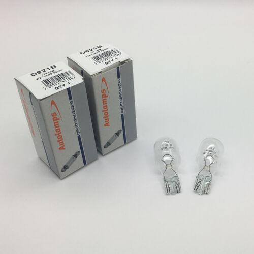 2 x Autolamps 921B W16W Rear Indicator Car Light Bulb 955 12v 16w Wedge