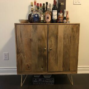 Homesense teak bar/storage