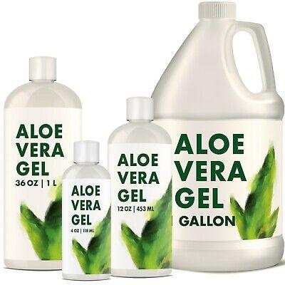 Aloe Vera Gel For Face & Body Moisturizer Variations 12 oz to 5 gal