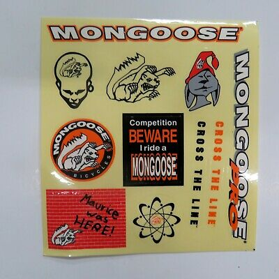 old school bmx decals stickers odyssey excalibur crank black on clear