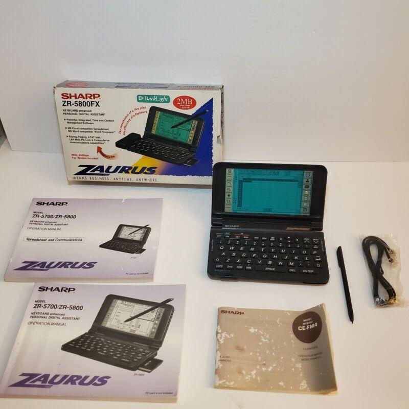 Sharp Zaurus PDA Personal Digital Assistant With Stylus (ZR-5800FX) TESTED WORKS