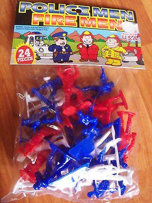 Tim Mee Rescue Men Policemen Firemen Vintage Dimestore Toy 24pc - Toy Firemen