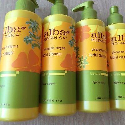 4X ALBA BOTANICA PINEAPPLE ENZYME HAWAIIAN FACIAL CLEANSER -  8 - Pineapple Enzyme Facial Cleanser