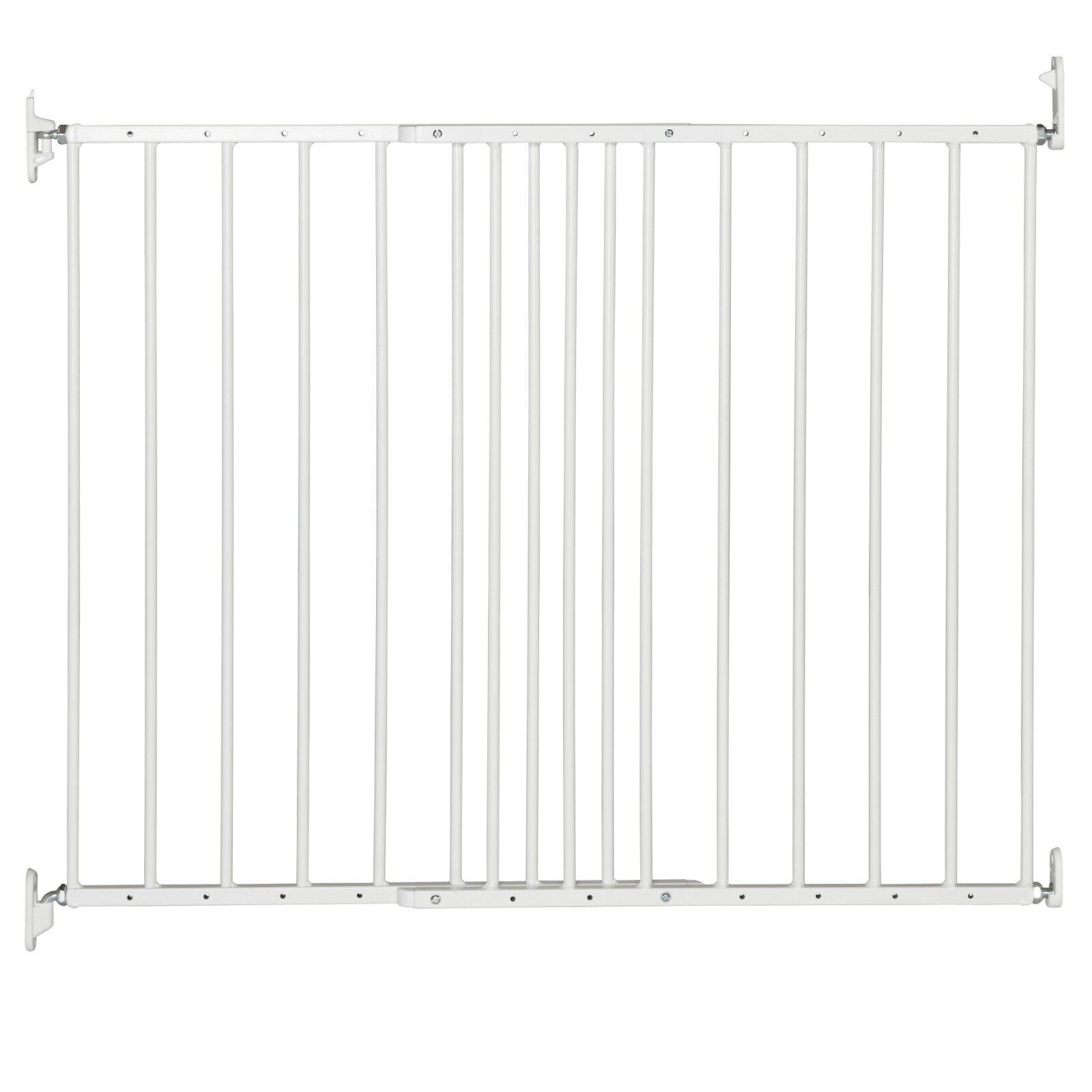 DOLLE Treppenschutzgitter weiß Türgitter Kinder Absperr Gitter 62,5 - 106,8 cm