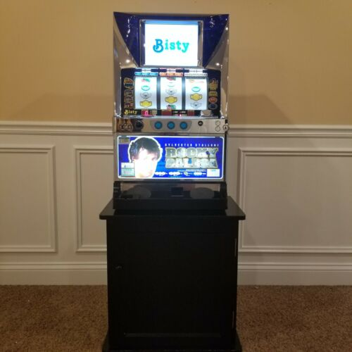 Rocky Balboa Premium LCD Display Skill Stop Slot Machine With Cabinet & Tokens