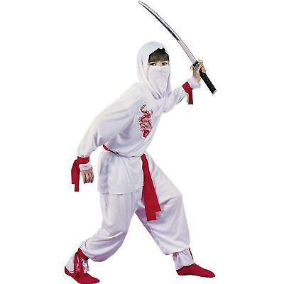 White Ninja Deluxe Child Costume sizes sm and lg by Fun World - White Ninja Kostüm Deluxe
