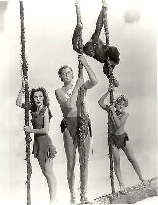 JOHNNY WEISMULLER (TARZAN) with MAUREEN O'SULLIVAN and Son #356 B&W 8x10 Photo