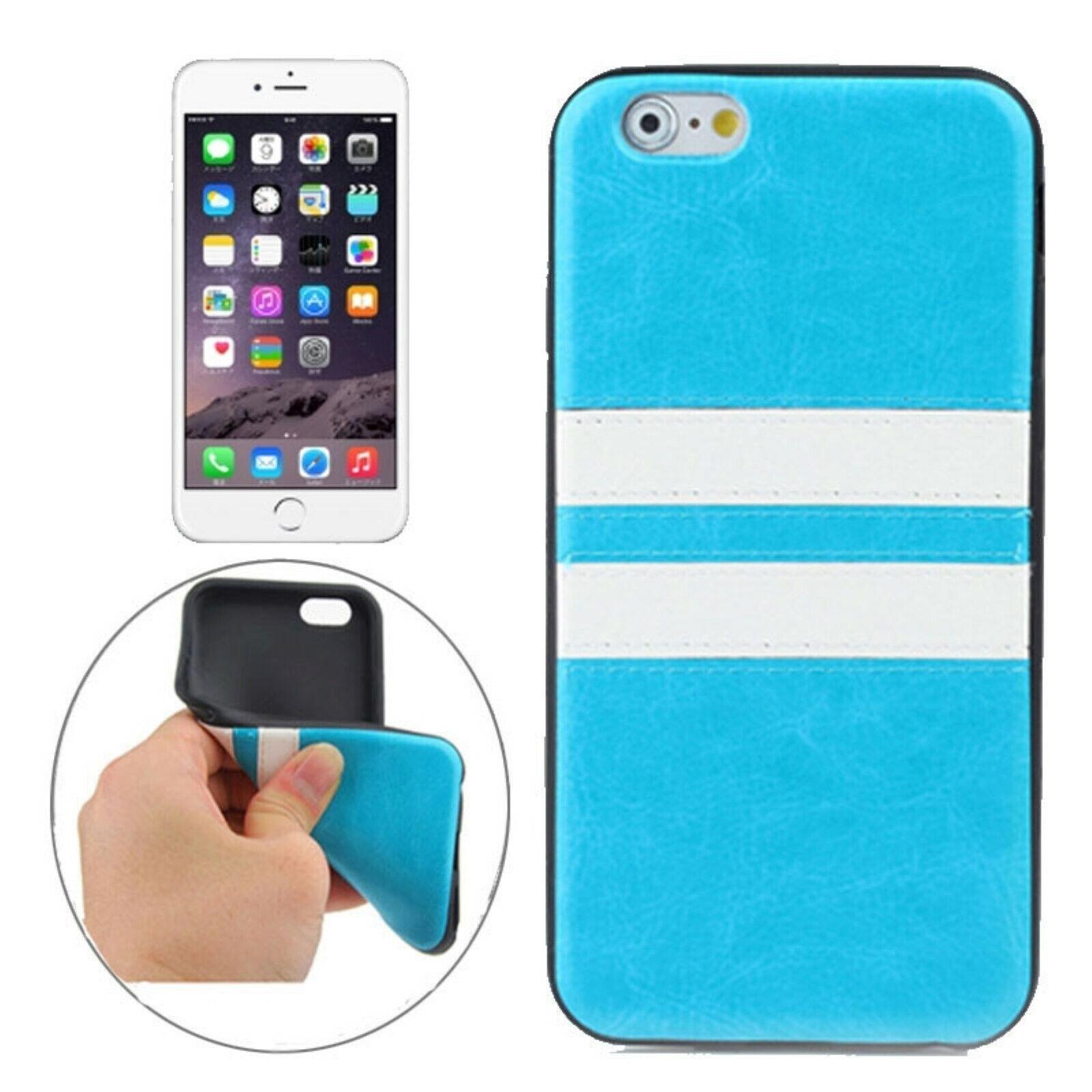TPU Case Race Rennen Double Stripe Streifen Hülle Blau für Apple iPhone 6 6S