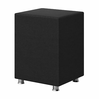 Nachttisch-hocker (Nachtkonsole Nachttisch Hocker Kara Würfel Cube schwarz 40x40x60 Webstoff )