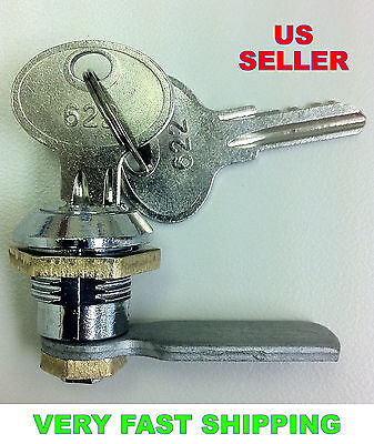 Lot Of 10 Mini Cam Locks Keyed Alike For Cabinets Desks Boxes Drawers Etc