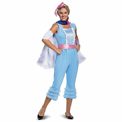 Adult Bo Peep Costumes (New Bo Peep Halloween Costume Women's Adult Medium Deluxe Toy Story 4 sz)
