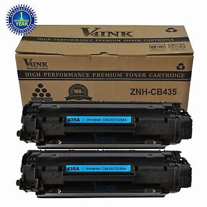 2 PK CB435A 35A Toner Cartridges For HP LaserJet P1102w P1005 P1006 NON-OEM